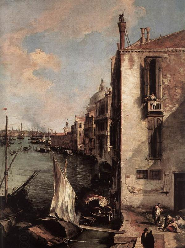 Canaletto Grand Canal, Looking East from the Campo San Vio (detail) fd China oil painting art