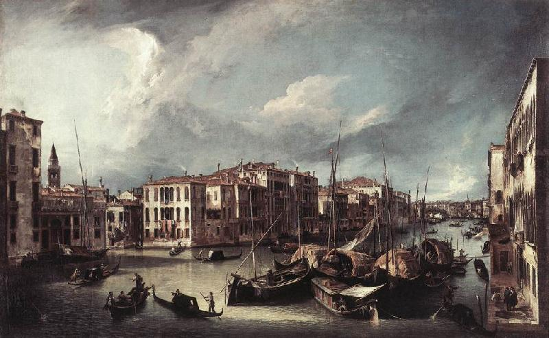 Canaletto The Grand Canal with the Rialto Bridge in the Background fd