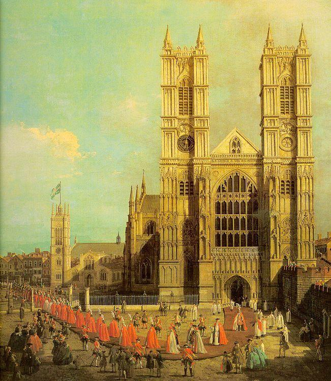 Canaletto Westminster Abbey with a Procession of the Knights of Bath
