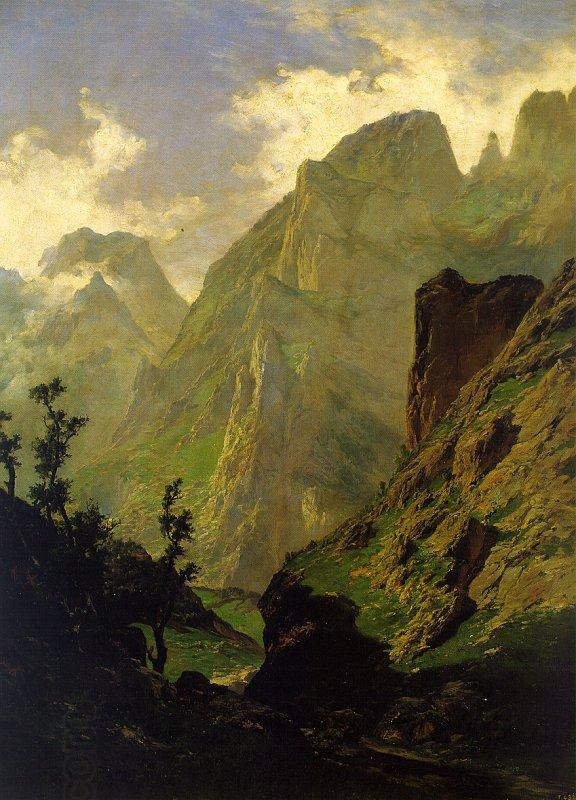 Carlos de Haes The Peaks of Europe,  The Mancorbo Canal