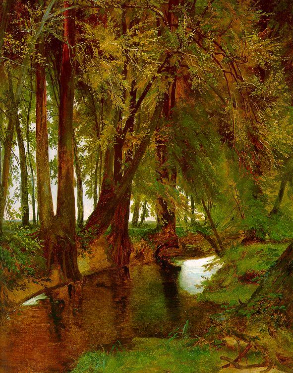 Charles Blechen Woodland with Brook