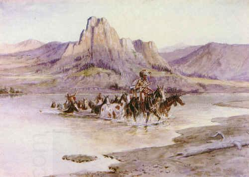 Charles M Russell Return of the Horse Thieves