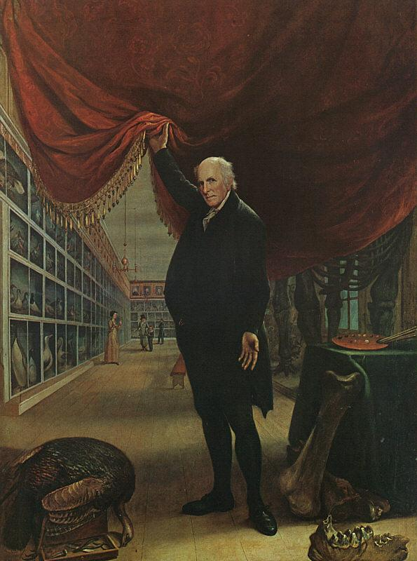 Charles Wilson Peale The Artist in his Museum oil painting picture