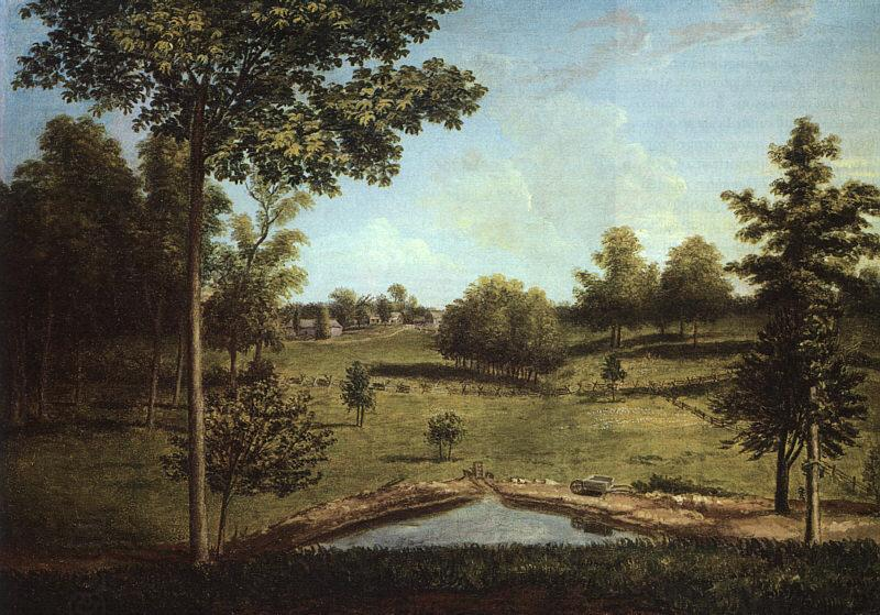 Charles Wilson Peale Landscape Looking Towards Sellers Hall from Mill Bank oil painting picture