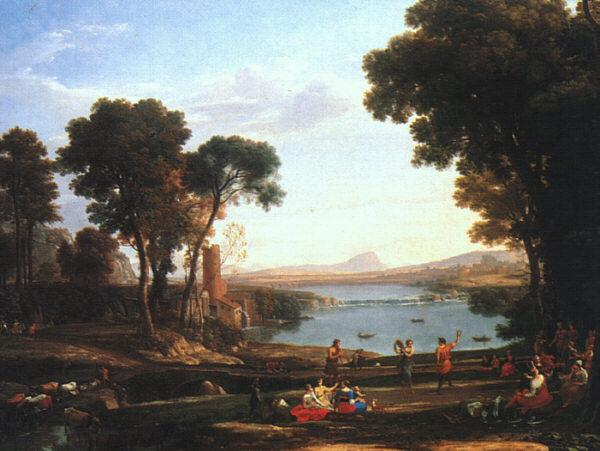 Claude Lorrain Landscape with the Marriage of Isaac and Rebekah oil painting picture