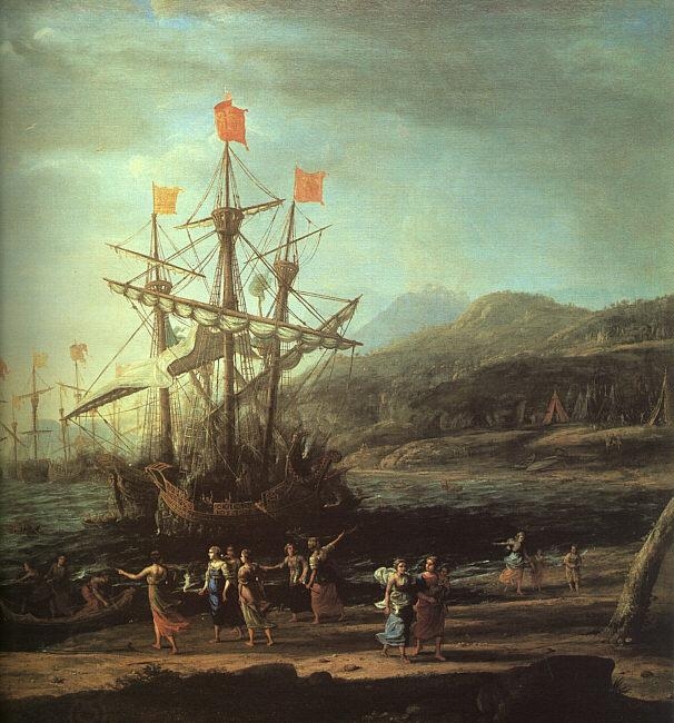 Claude Lorrain The Trojan Women Setting Fire to their Fleet oil painting picture
