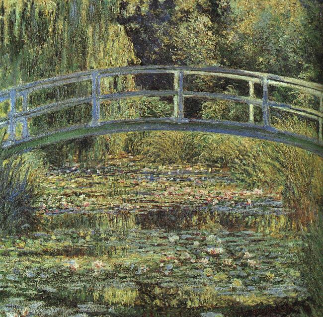 Claude Monet Waterlilies and Japanese Bridge oil painting picture