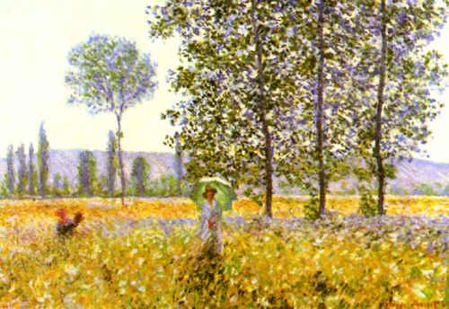 Claude Monet Fields in Spring oil painting picture