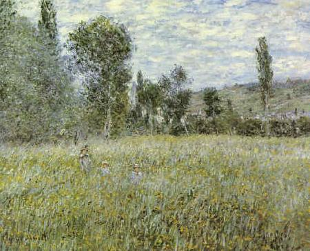 Claude Monet Across the Meadow oil painting picture