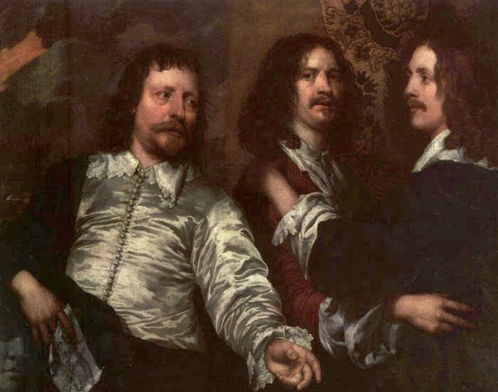 DOBSON, William The Painter with Sir Charles Cottrell and Sir Balthasar Gerbier dfg