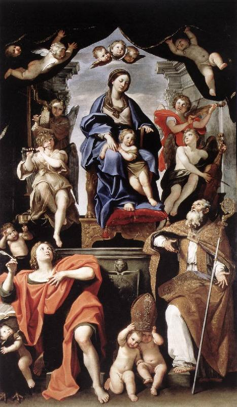 Domenichino Madonna and Child with St Petronius and St John the Baptist dg