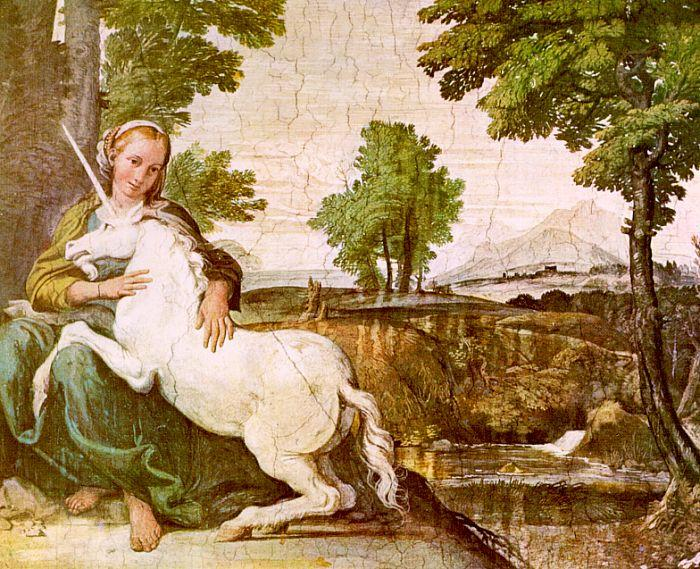 Domenichino The Maiden and the Unicorn oil painting picture