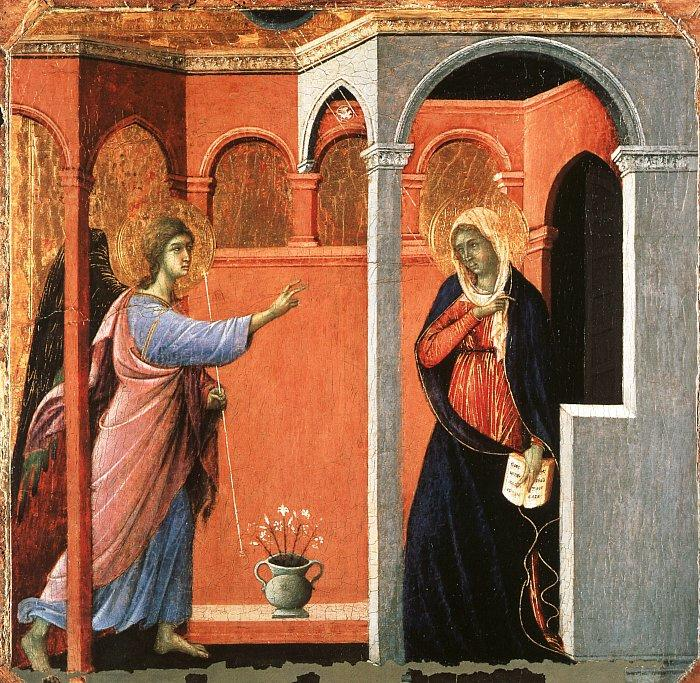 Duccio di Buoninsegna Annunciation oil painting picture