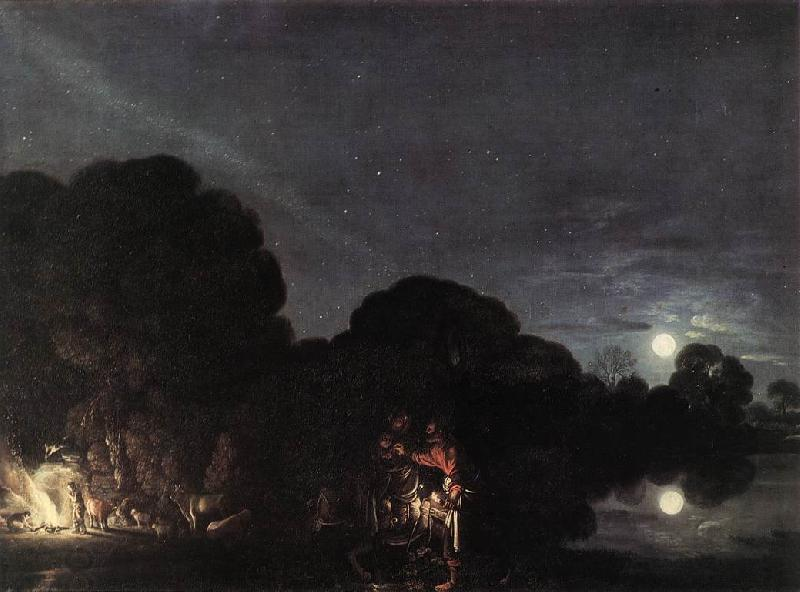 ELSHEIMER, Adam Flight into Egypt  fg oil painting picture