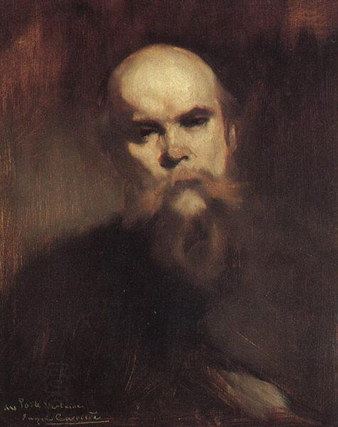 Eugene Carriere Portrait of Paul Verlaine