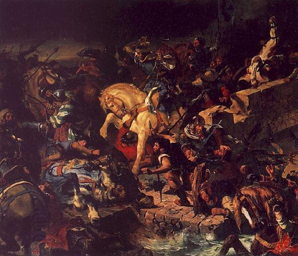 Eugene Delacroix The Battle of Taillebourg