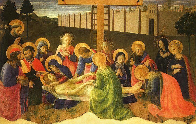 Fra Angelico Lamentation Over the Dead Christ oil painting picture