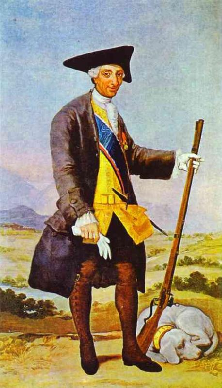 Francisco Jose de Goya Charles III in Hunting Costume oil painting picture