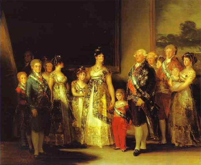 Francisco Jose de Goya Charles IV and His Family oil painting picture