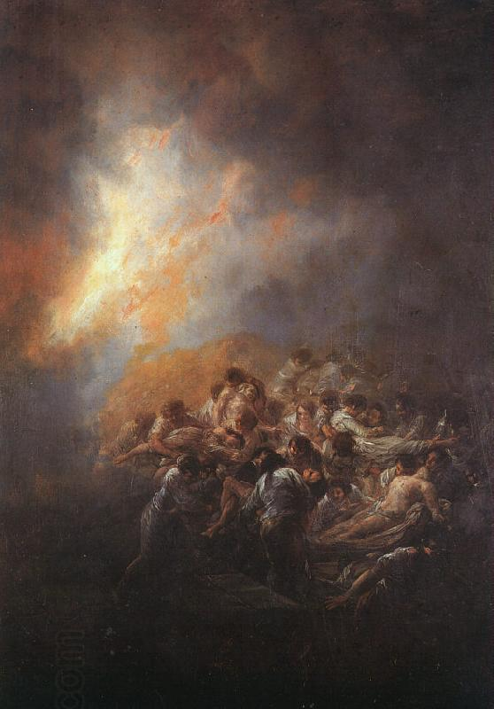 Francisco de Goya The Fire oil painting picture