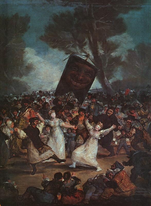 Francisco de Goya The Burial of the Sardine oil painting picture