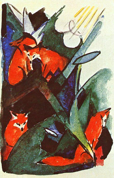 Franz Marc Four Foxes oil painting picture