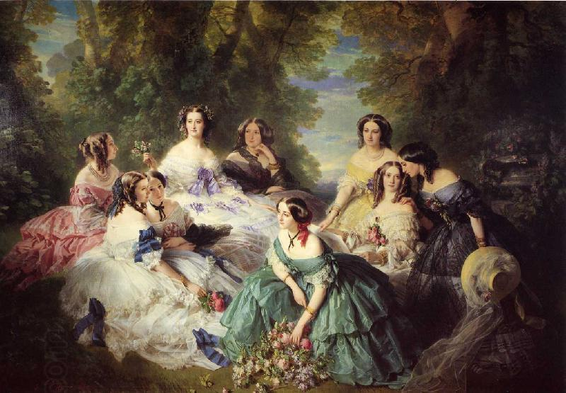 Franz Xaver Winterhalter The Empress Eugenie Surrounded by her Ladies in Waiting