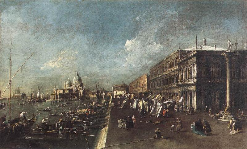 GRIMMER, Jacob View of the Molo towards the Santa Maria della Salute rg oil painting picture