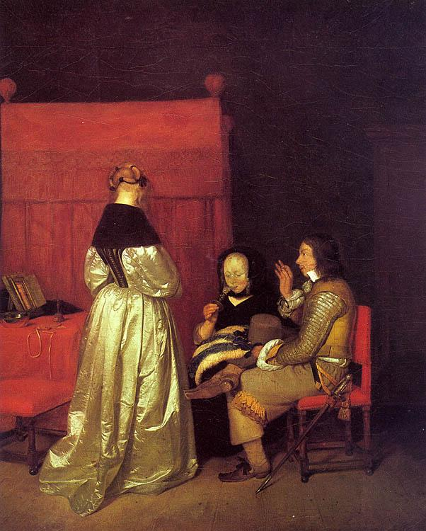 Gerard Ter Borch Paternal Advice oil painting picture