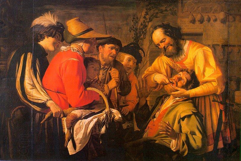 Gerrit van Honthorst The Tooth Puller oil painting picture