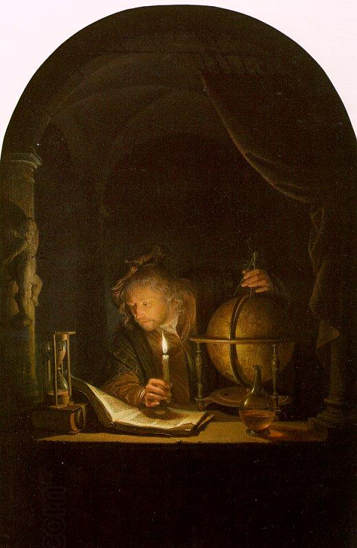 Astronomer By Candlelight. Gerrit Dou Astronomer by Candlelight oil painting picture
