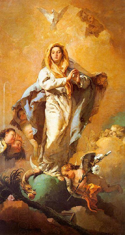 Giovanni Battista Tiepolo The Immaculate Conception oil painting picture