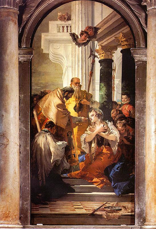 Giovanni Battista Tiepolo The Last Communion of St.Lucy