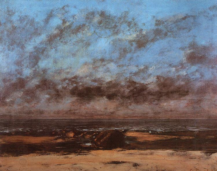 Gustave Courbet Low Tide known as Immensity