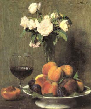 Henri Fantin-Latour Still Life with Roses and Wine  6