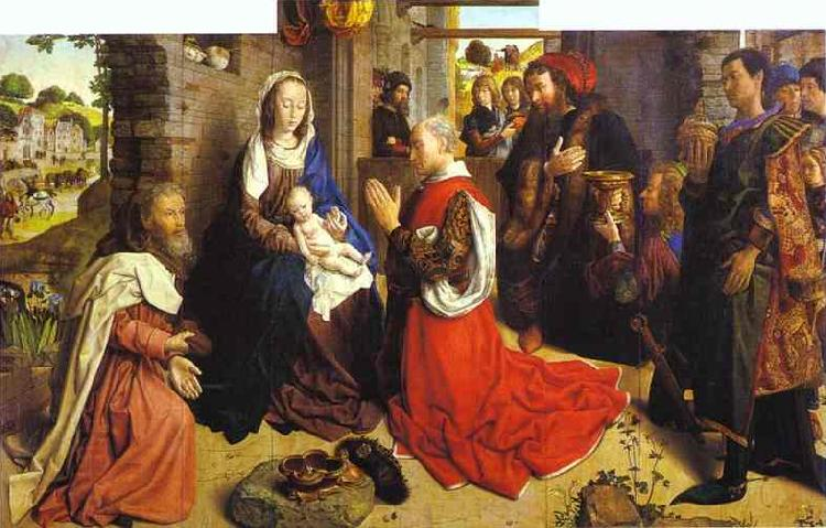 Hugo van der Goes Adoration of the Magi oil painting picture
