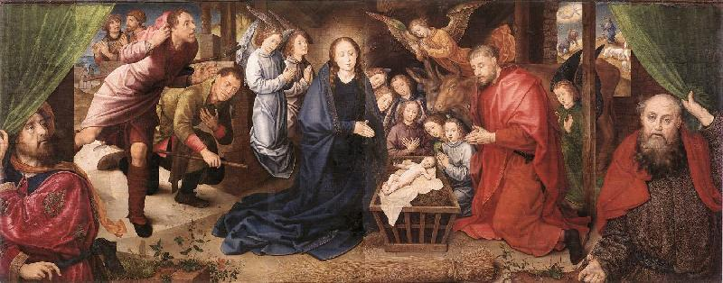 Hugo van der Goes Adoration of the Shepherds oil painting picture