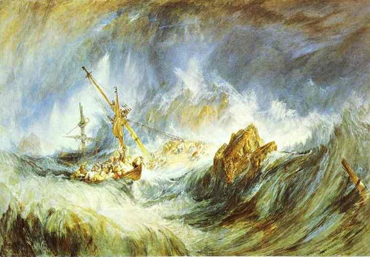 J.M.W. Turner Storm (Shipwreck) oil painting picture