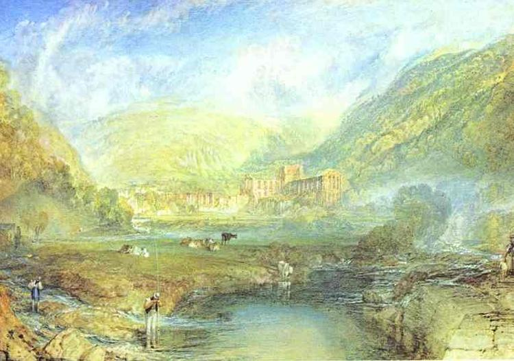 J.M.W. Turner Rivaulx Abbey, Yorkshire oil painting picture