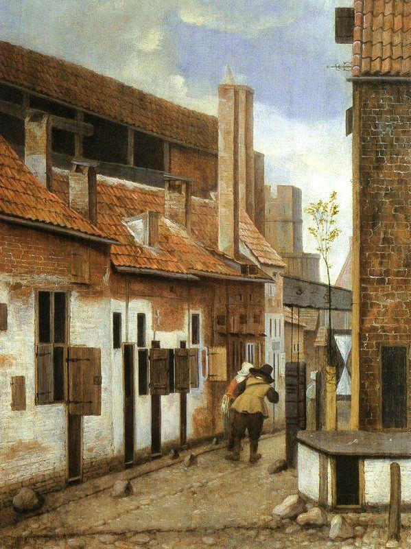 Jacobus Vrel Street Scene with Six Figures China oil painting art