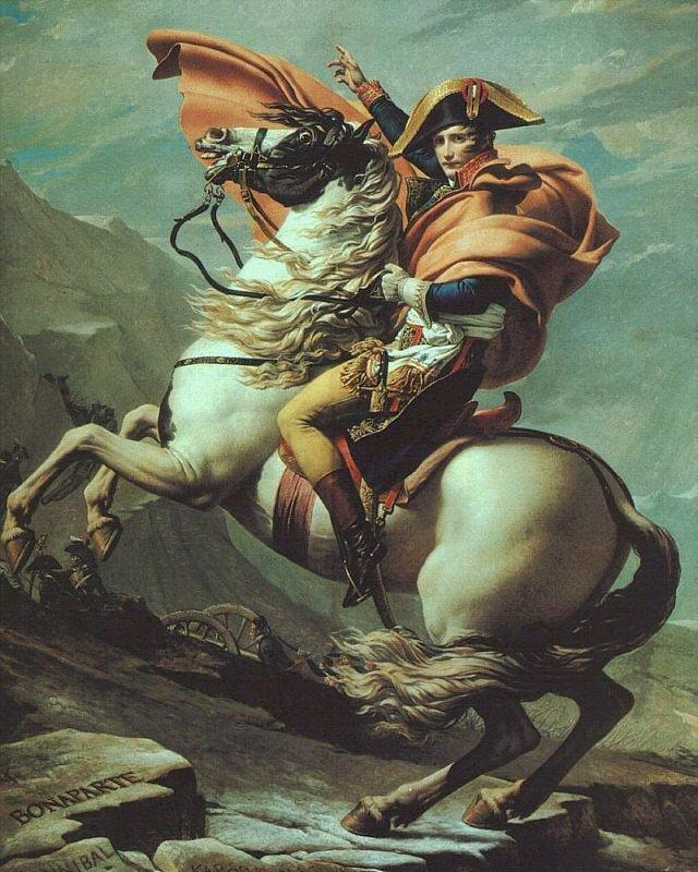 Napoleon Crossing The Saint Bernard Jacques Louis David
