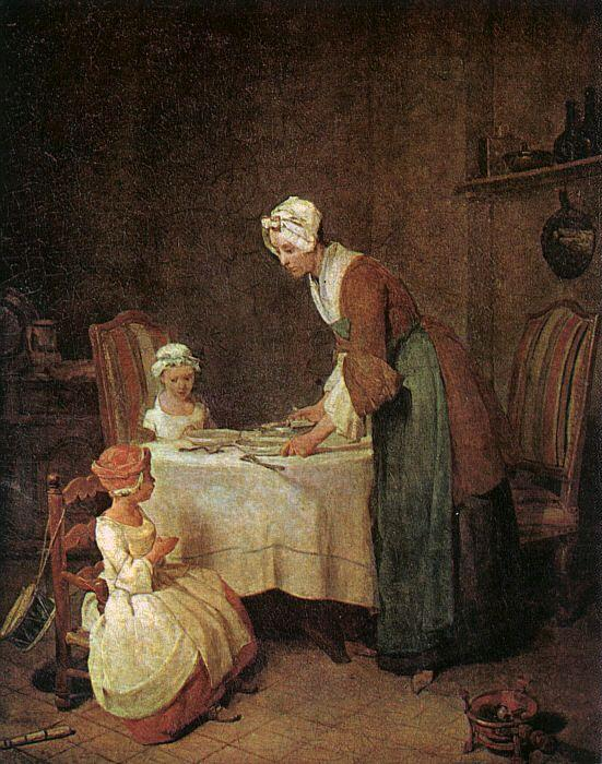Jean Baptiste Simeon Chardin Grace before a Meal