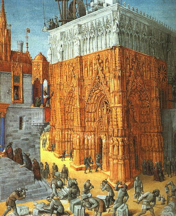 Jean Fouquet The Building of a Cathedral
