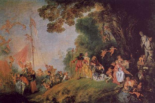 Jean-Antoine Watteau Pilgrimage to Cythera oil painting picture