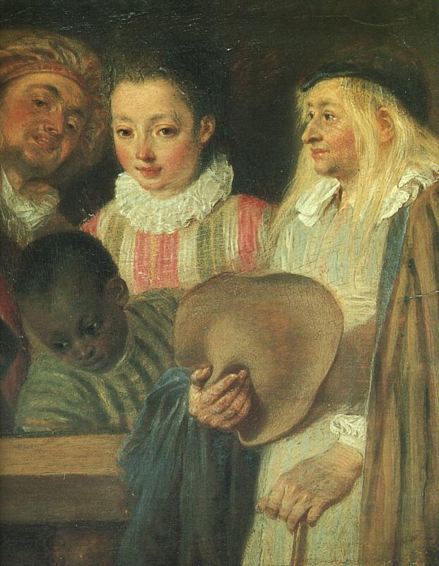Jean-Antoine Watteau Actors from a French Theatre (Detail) oil painting picture