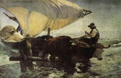 Joaquin Sorolla Y Bastida Return from Fishing Towing the Bark
