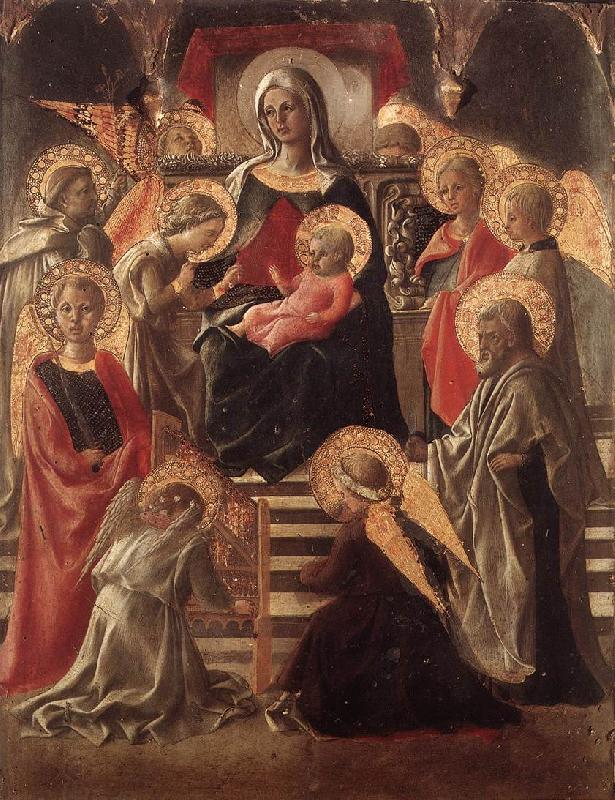 LIPPI, Fra Filippo St Stephen is Born and Replaced by Another Child (detail) sf
