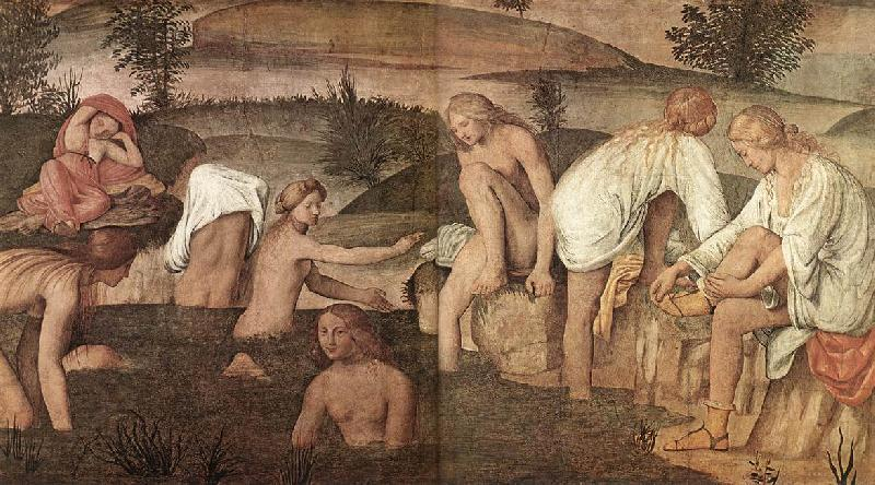 LUINI, Bernardino Girls Bathing sfg China oil painting art
