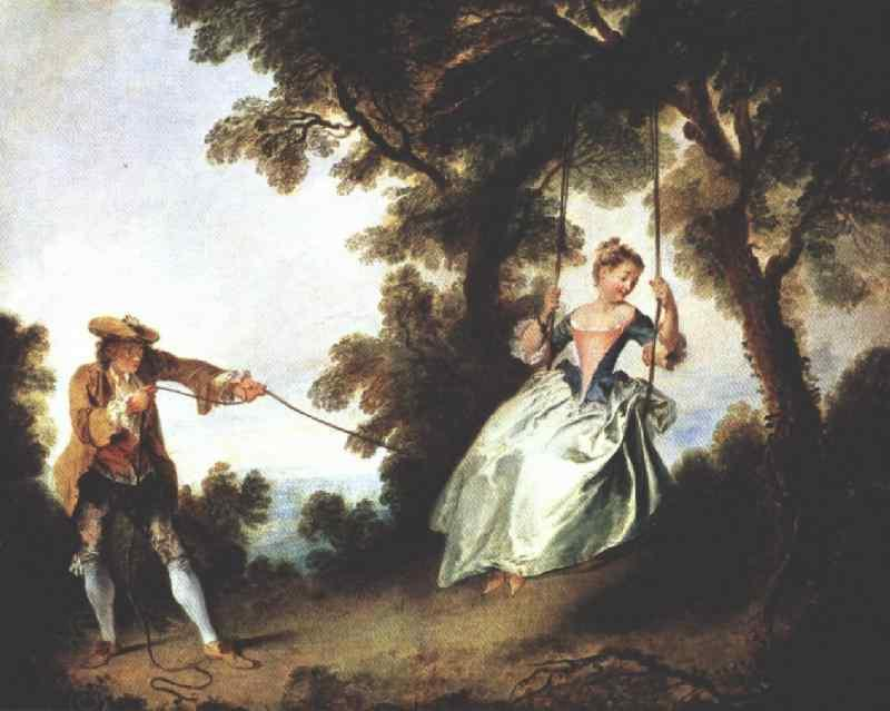 Nicolas Lancret The Swing oil painting picture