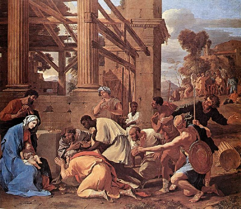 Nicolas Poussin Adoration of the Magi oil painting picture